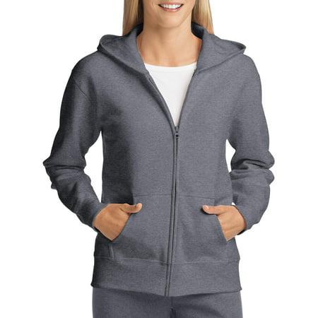 Hanes ComfortSoft EcoSmart Womens Fleece Full-Zip Hoodie Sweatshirt