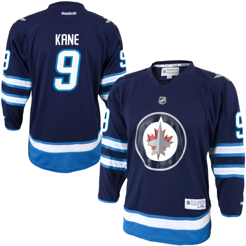 Evander Kane Winnipeg Jets Reebok Youth Replica Player Hockey Jersey Navy Blue by Outerstuff