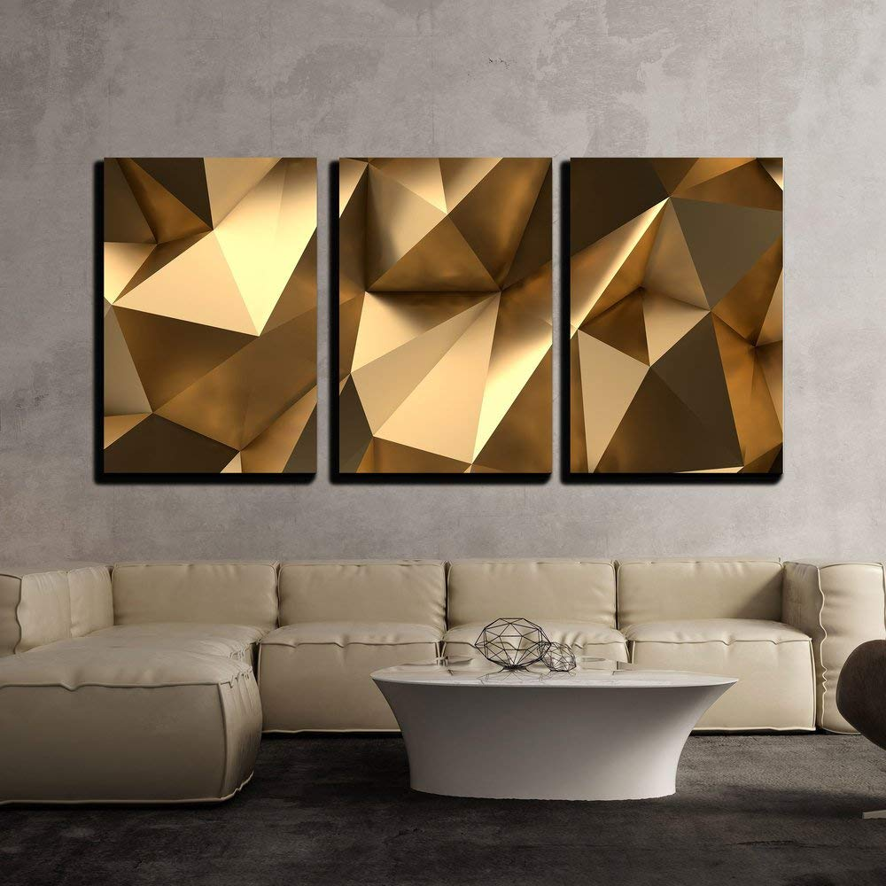 Abstract as Background Modern Home Decor Stretched and Framed Ready to Hang wall26-3 Piece Canvas Wall Art