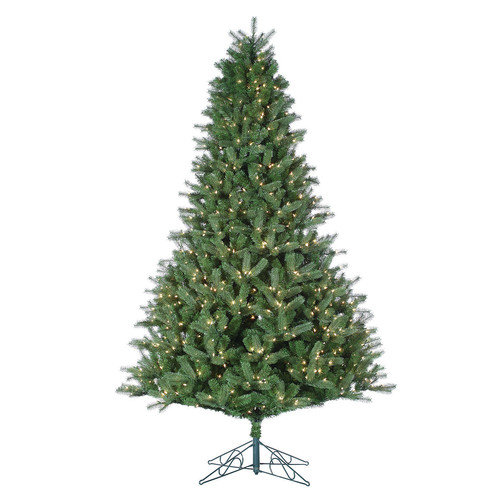 Sterling Inc. 9' Natural Cut Arizona Fir Christmas Tree with 1000 Clear Lights with Stand