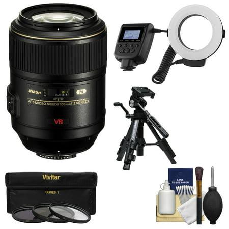 nikon 105mm f 2 8 g vr af s micro nikkor lens with. Black Bedroom Furniture Sets. Home Design Ideas