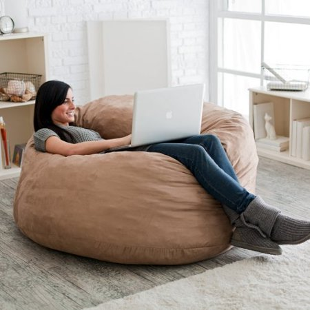 Fuf 4 Ft Micro Suede Bean Bag Sofa Walmart Com