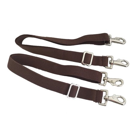 Horse Blanket Sheet Leg Straps Replacement Elastic Double Snaps Adjustable Brown