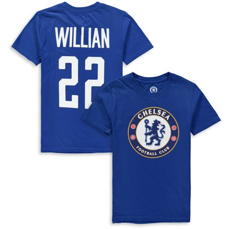 Willian Borges da Silva Chelsea Youth Club Name & Number T-Shirt - Blue ()