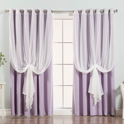 Lavender 80 x 96 In. Blackout Window Treatments, Set of Two by
