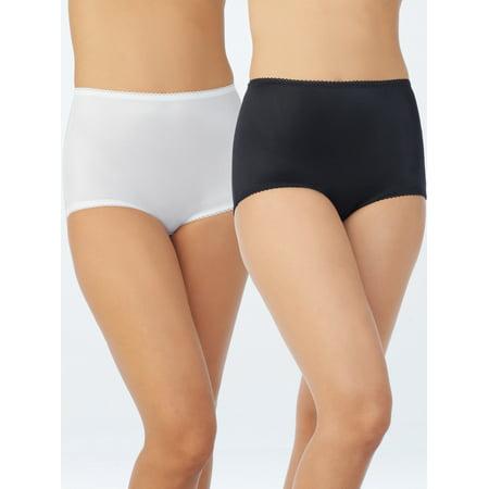 Women's Undershapers Light Control Briefs, 2 Pack, Style 40201 - Flexees Nylon Briefs