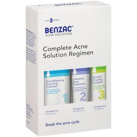 Benzac Acne Solutions Complete Acne Solution Regimen 3 Pc