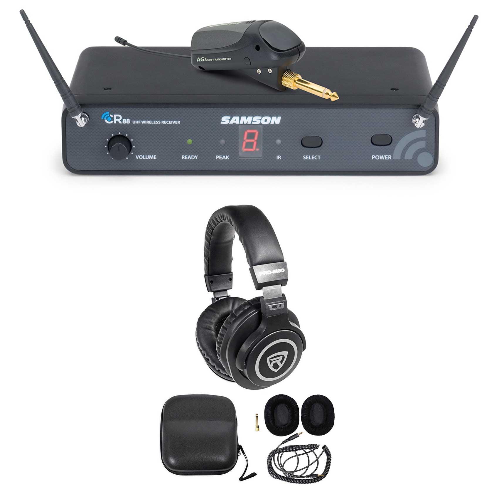 Samson AirLine 88 AG8 UHF Guitar System, w/ Plug-In Trans...