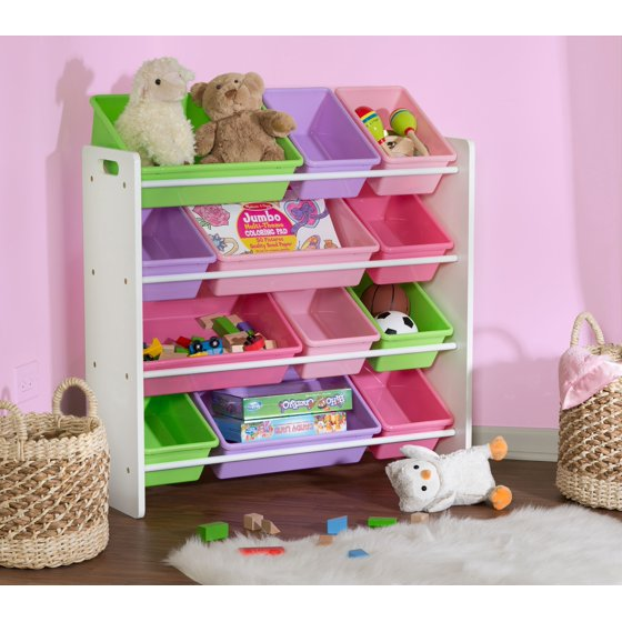 Honey Can Do Kid\'s Toy Organizer with 12 Storage Bins, Multicolor ...