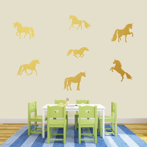 Zoomie Kids Unicorn Wall Decal Set (Set of 3)