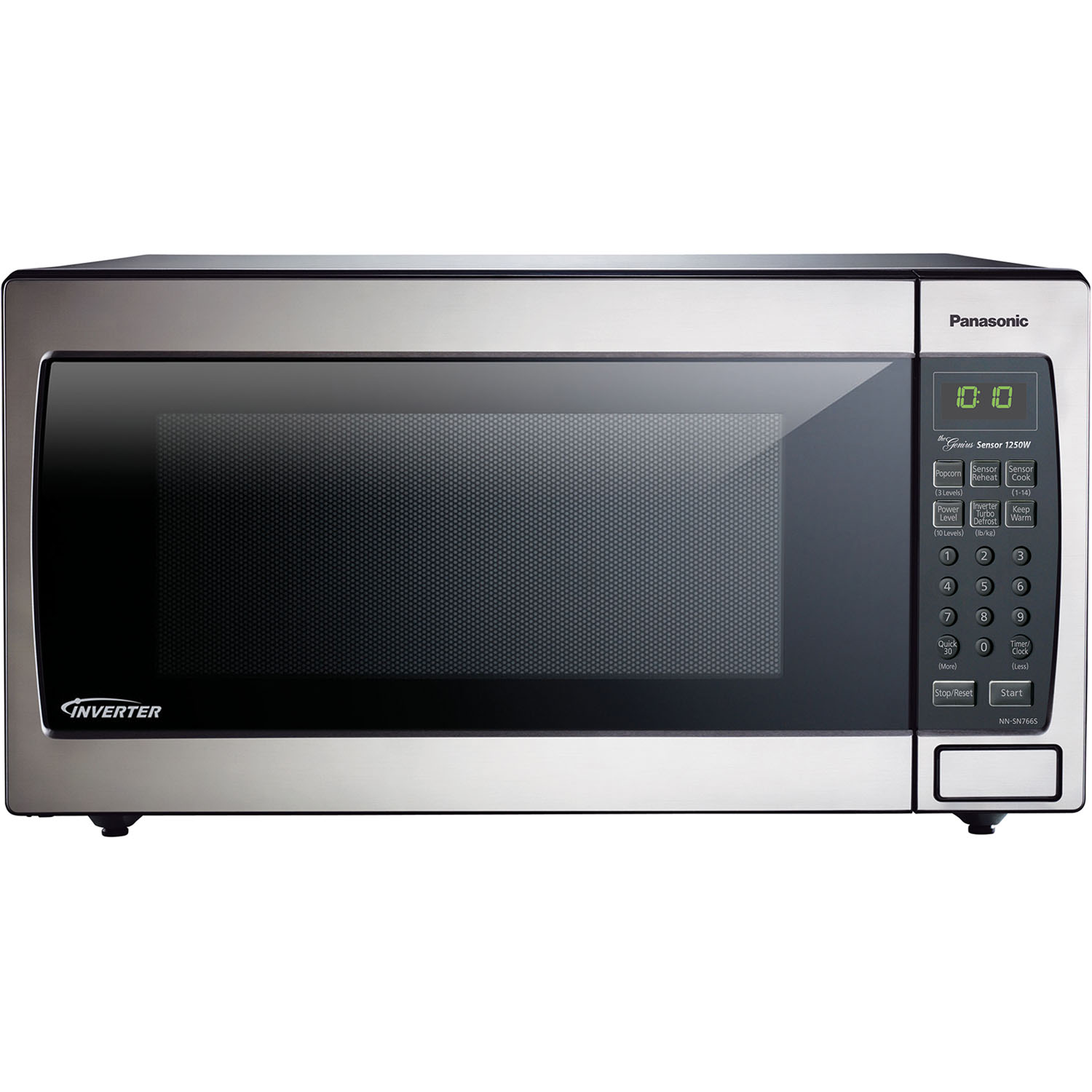 Panasonic 1.6 cu. ft Stainless Steel Microwave with Inverter, NN-SN766S
