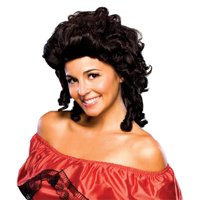 Colonial Girl Southern Belle Wig Brown Curly Hair Adult Womens Costume Accessory