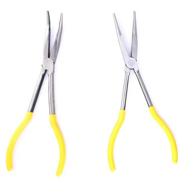 Details about  /3 Pcs Mechanical Pliers 11in Long Needle Nose Pliers Kits High Carbon Steel 45°