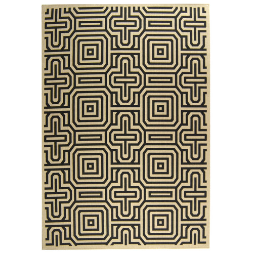Safavieh Courtyard Sand & Black Outdoor Area Rug