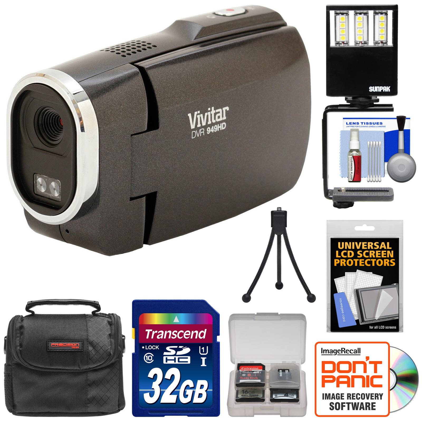 Vivitar DVR949HD 1080p HD Video Camera Camcorder (Black) ...
