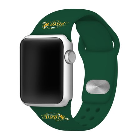 North Dakota State Bisons 42mm Silicone Sport Band for Apple Watch - BAND ONLY - Fits Apple Watch Series 1, Series 2, Series 3 (Dakota Watch Bands)