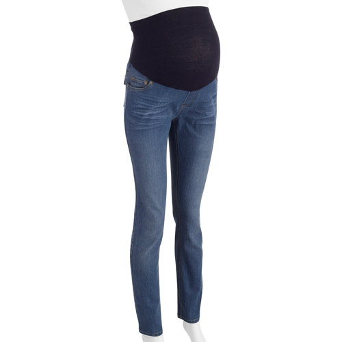 Oh! Mamma Maternity Full-Panel Classic Straight-Leg Jeans