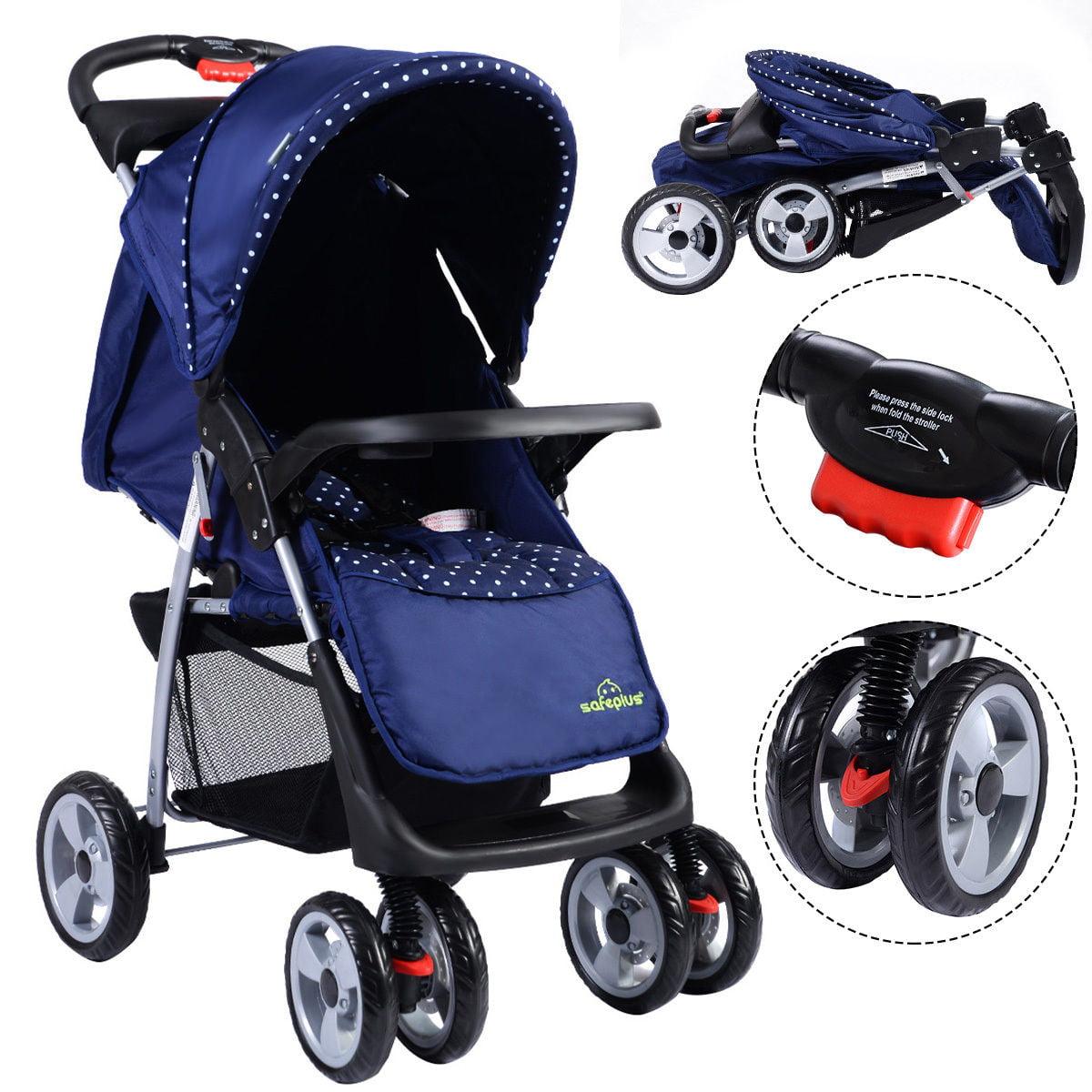 Costway Foldable Baby Kids Travel Stroller Newborn Infant