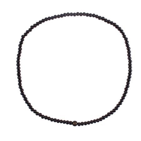 Elastic Strap Plastic Beads Bracelet Black 58cm (Elastic Girth)