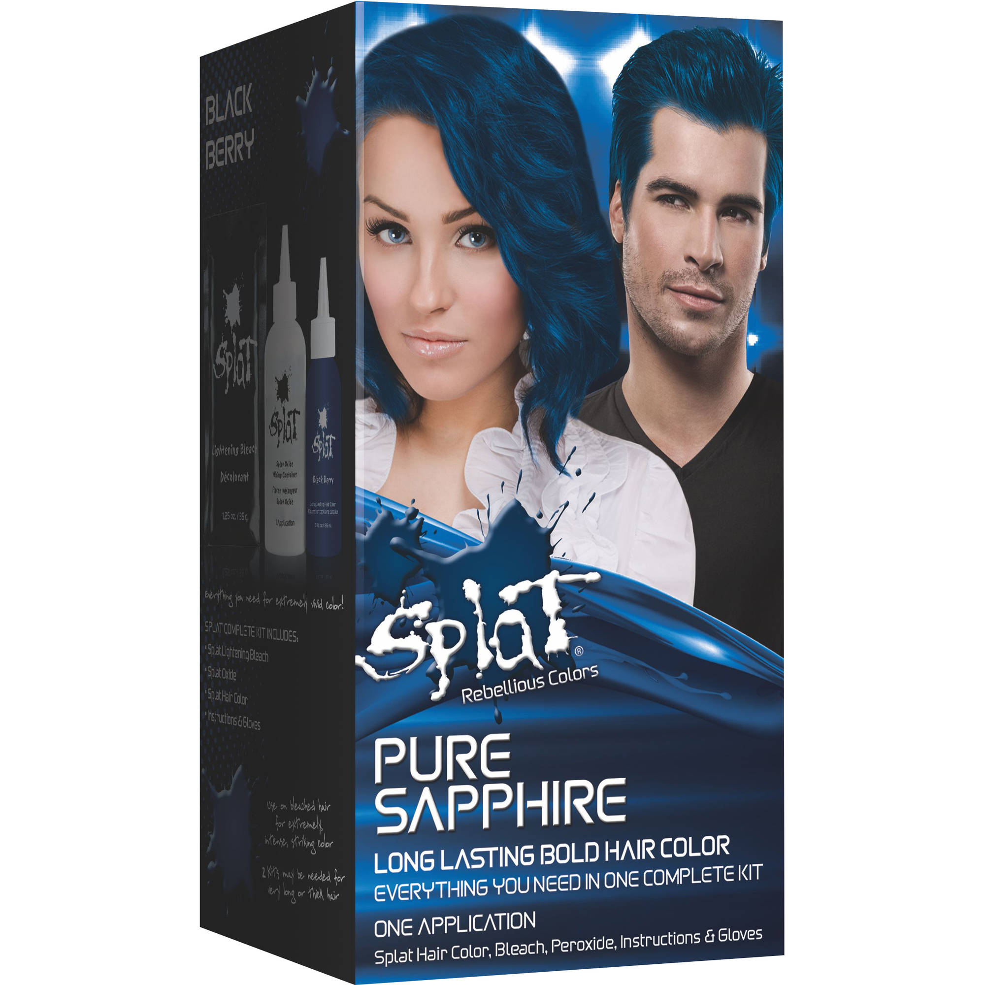 Splat Bold Hair Color Semi Permanent Kit; Pure Sapphire