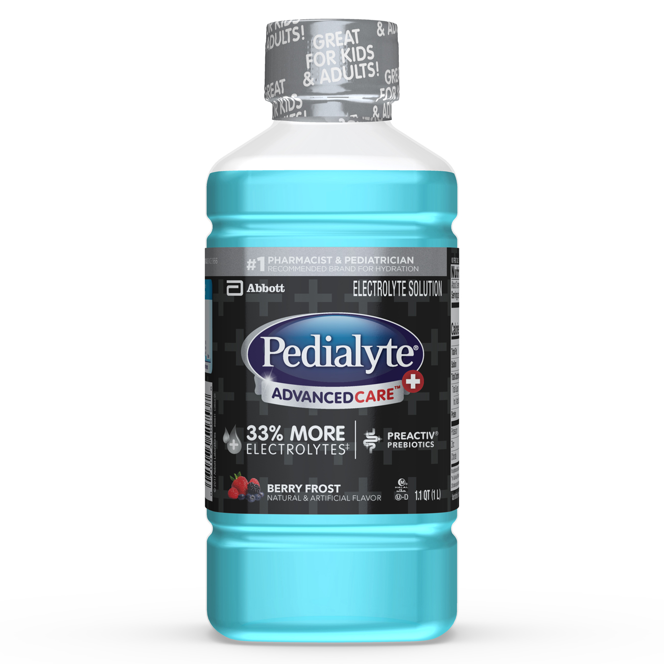 Pedialyte AdvancedCare Plus Electrolyte Solution Berry Frost 1.1 qt Bottle