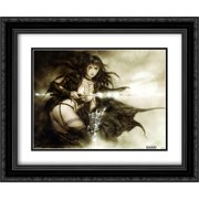 Gothic 2x Matted 24x20 Black Ornate Framed Art Print by Luis Royo