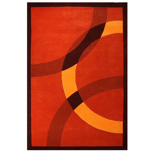 Acura Rugs Contempo Dark Orange/Yellow Area Rug