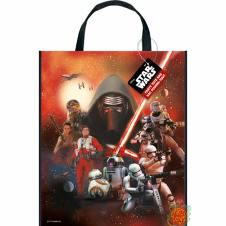 12X Star Wars Force Awakens Party Gift Favor Tote Bag (12 Bags)](Star Wars Favor Bags)