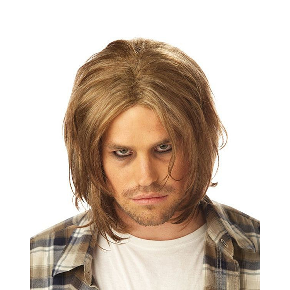 Kurt Cobain Wig Nirvana Grunge Adult Mens Costume Hair 90/'s Music Blonde