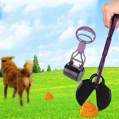 (Easy Use Long Handle Dog Pooper Scooper Pet Waste Clean Pickup Tool Puppy Scoop Grabber Picker)