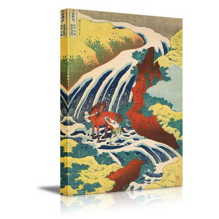Katsushika Hokusai Mount (wall26 Yoshitsune Falls, from the series Famous Waterfalls in Various Provinces by Katsushika Hokusai -12