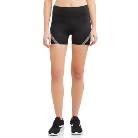 Daisy Fuentes Women's Active Athletic Taping Seamed Shorts