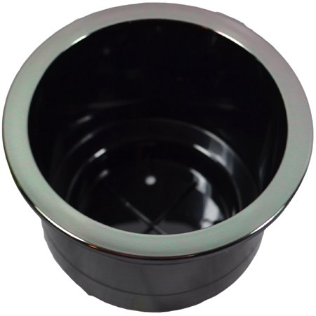 Replacement Cup Holder With Black Chrome Lip for Recliners and Sofas ()