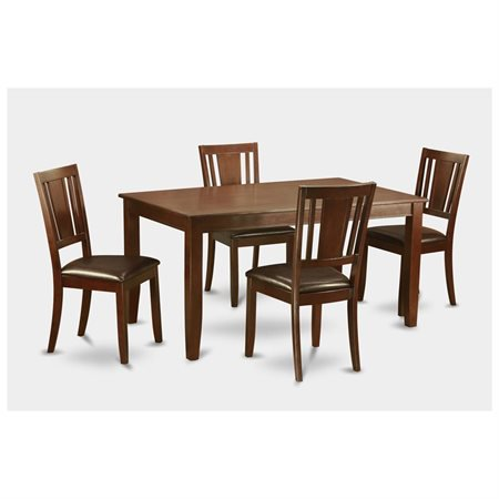 dudl5 mah lc 5 pc formal dining room set table and 4