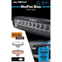 Alpena Hexfire LED Pod Light, 12V - 24V, White and Amber