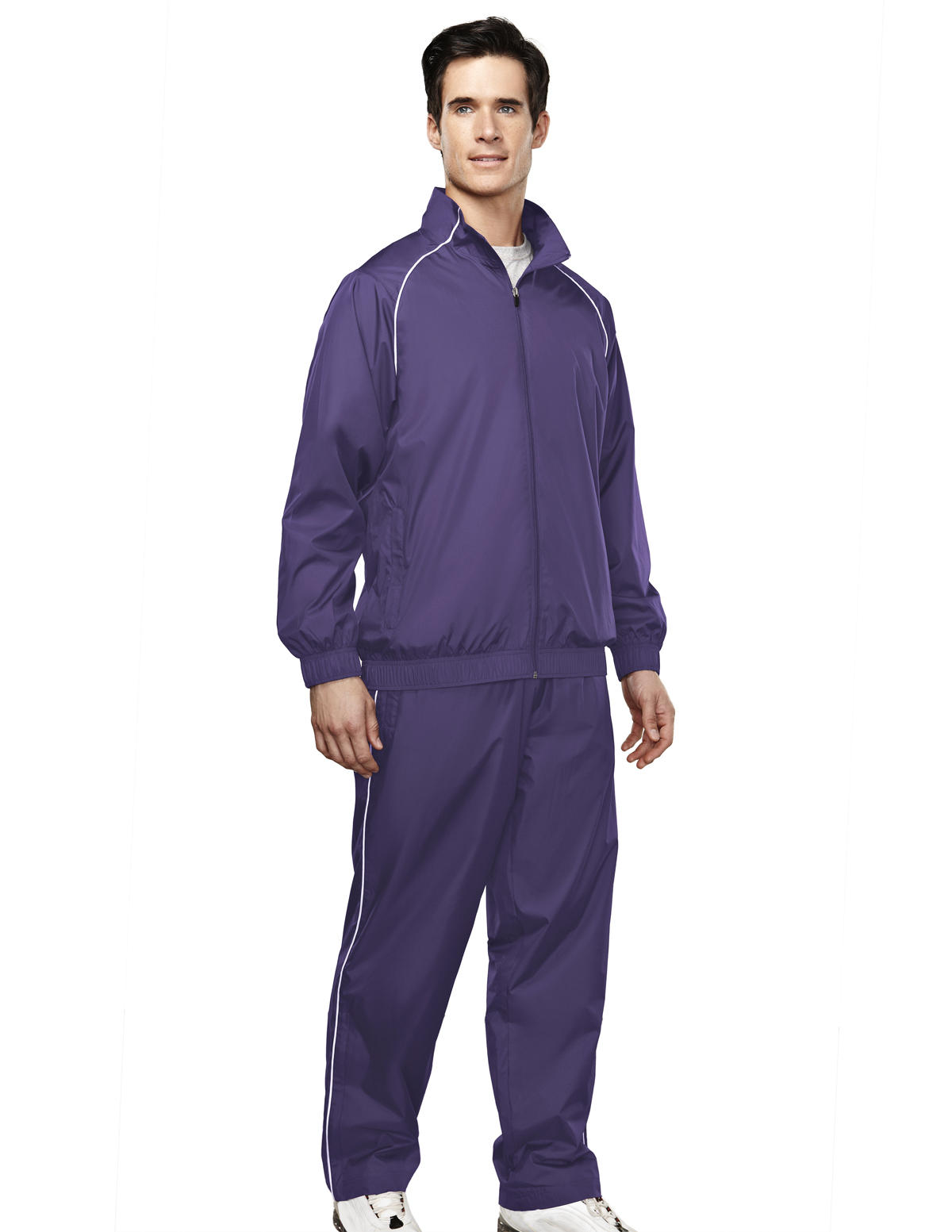 Tri-Mountain Charger 2347 Windproof Pant With Mesh Lining, Medium, Purple