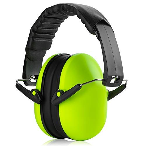 Ear Protection Muffs Hearing Noise - Lime Green Hearing Protection by MEDca