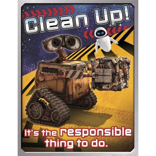 Eureka EU-837006 Wall-E Clean Up 17X22 Poster