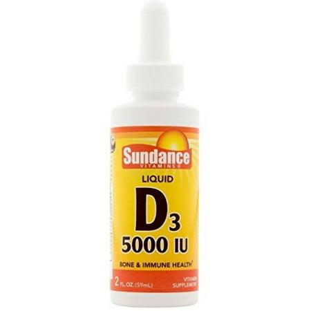 Sundance Vitamin D3 5000 IU Liquid, 2 oz