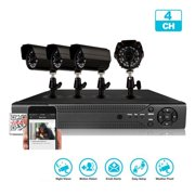 Ktaxon 4CH 960H CCTV DVR 800TVL Camera Night Vision Home Security System Without Hard Drive
