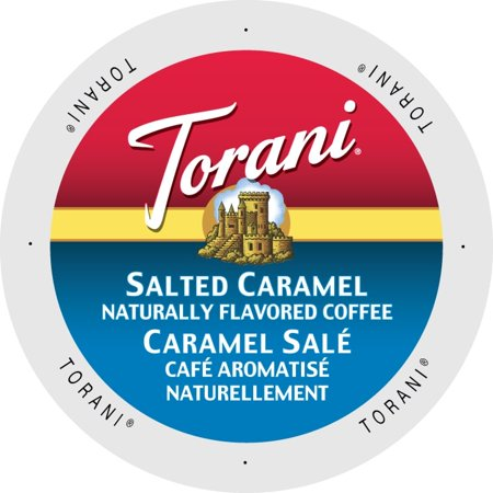 Torani Salted Caramel Flavored Coffee Pods, 24 Count for Keurig K Cups Brewers (Coffee Brewer Kcup)