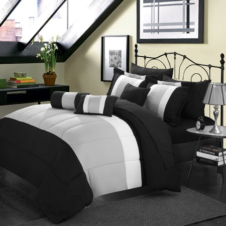 Chic Home Serenity 10 Piece Bed in a Bag Comforter Set