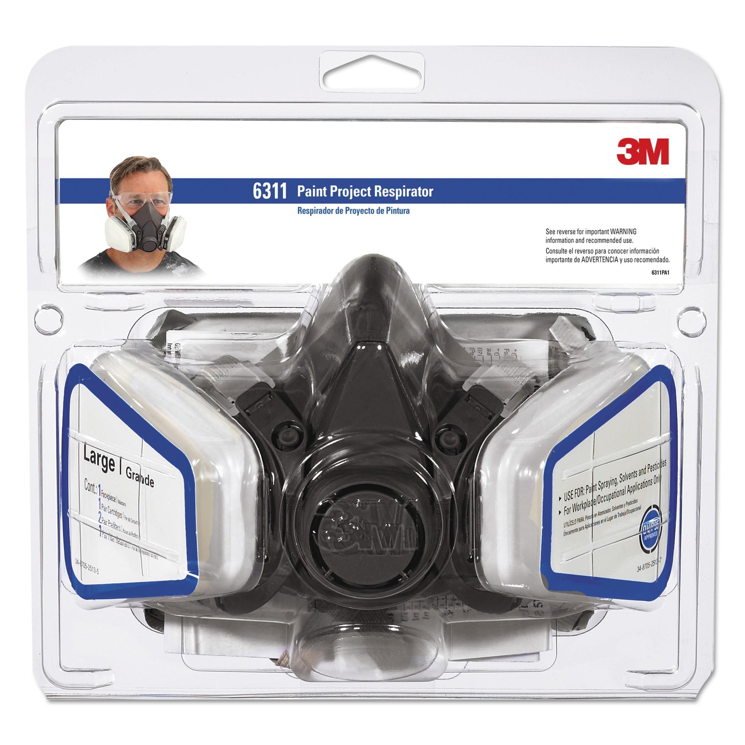 3M 6311PA1-A Large 3M® Half Facepiece Paint Spray & Pesticide Assembly