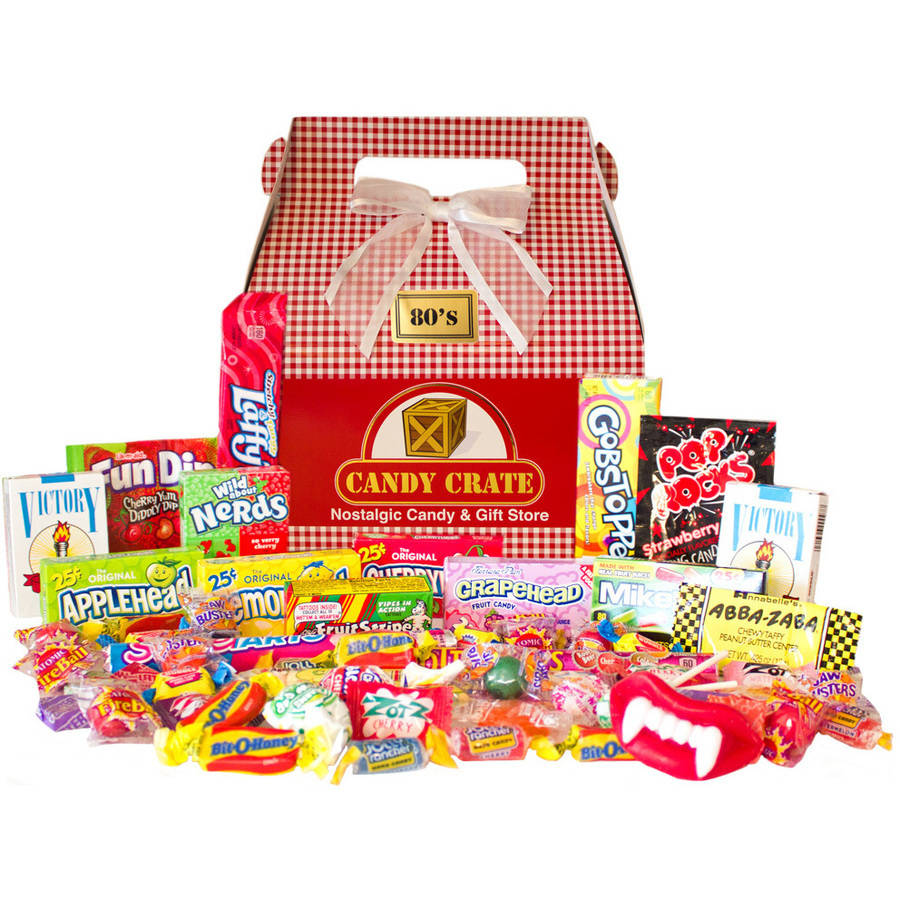 Candy Crate Holiday 1980s Retro Candy Gift Box by
