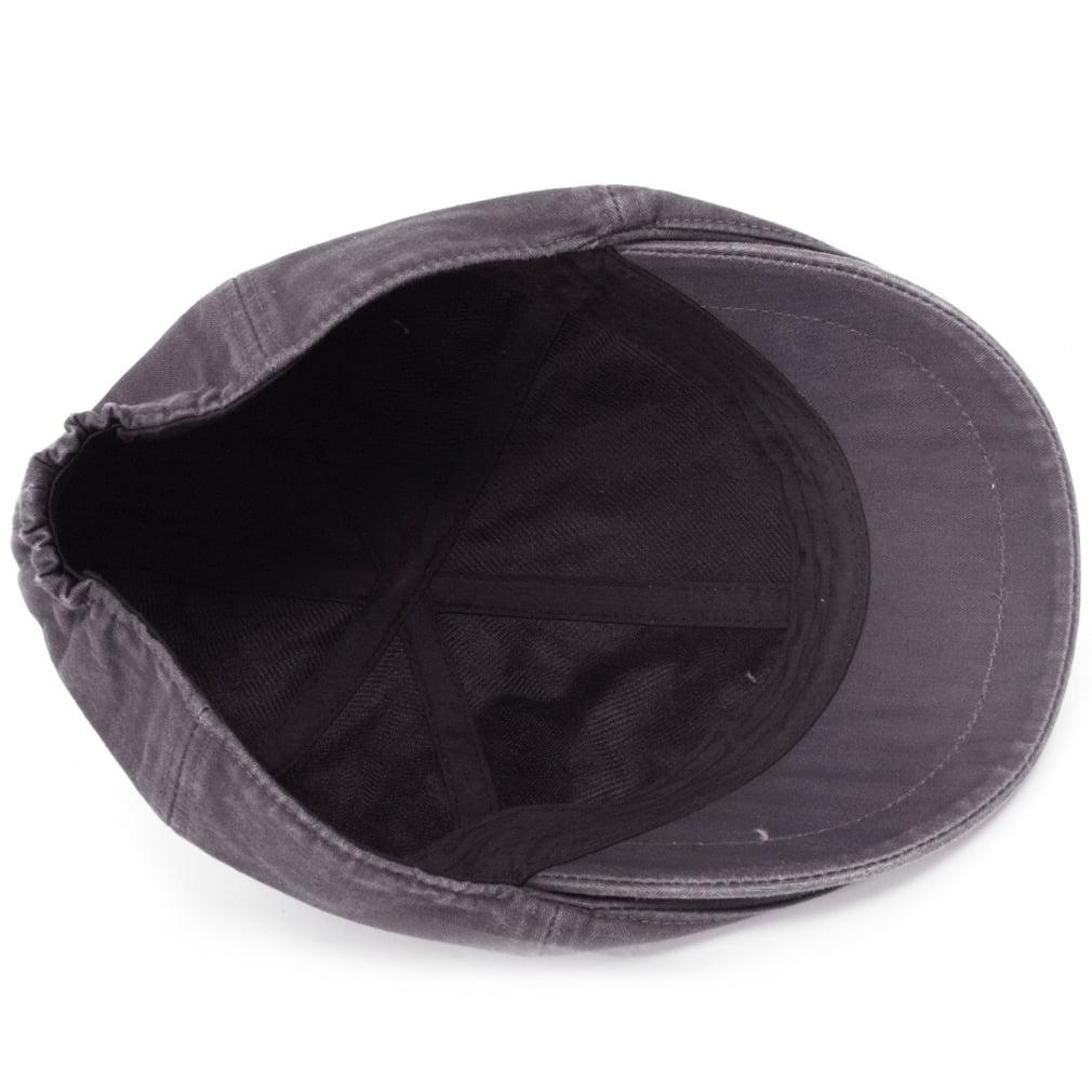 ililily Cotton Washed Flat Cap Cabbie Hat Gatsby Ivy Irish Hunting Newsboy  Stretch Fit 316a7b6154d4