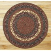 Earth Rugs Round Area Rug, 7.75', Burgundy/Gray