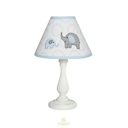 OptimaBaby Blue Grey Elephant Lamp Shade Without Base ()