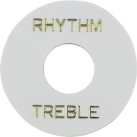 Switchwashers - Rhythm, White with Gold Lettering, for Les Paul By Gibson