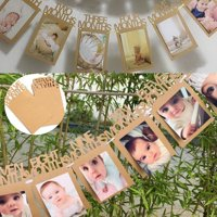 Baby Photo Garlands The 1st Birthday 1-12 Months Photo Banners Baby Shower Home Paper Bunting Banner Garlands Party Decor