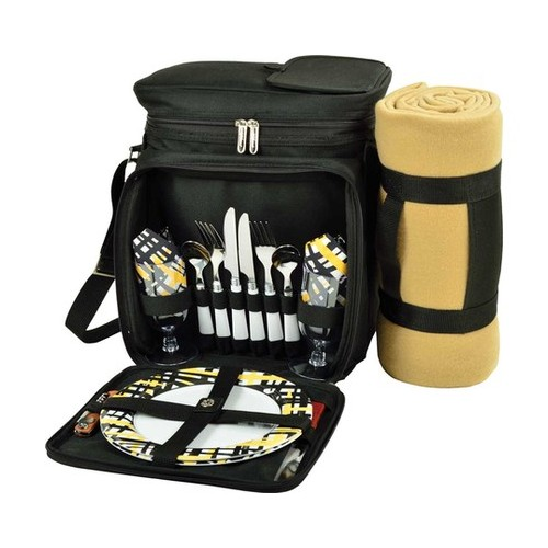 "Picnic at Ascot Equipped Picnic Cooler & Blanket for 2  13"" x 14"" x 10"""